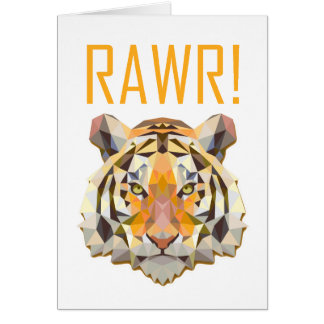 Tiger Roar Rawr Animal Cat Fun Card