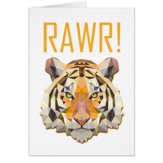 Tiger Roar Rawr Animal Cat Fun Greeting Card
