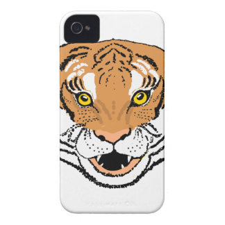 Tiger Roaring iPhone 4 Case-Mate Cases