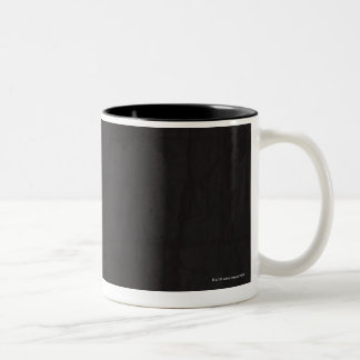 Tiger roaring Two-Tone coffee mug
