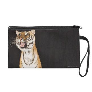 Tiger roaring wristlet