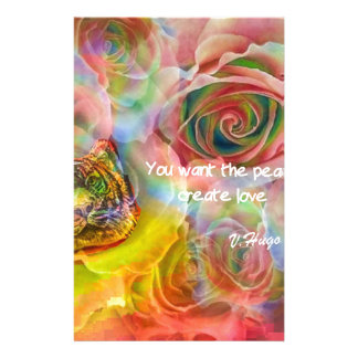 Tiger, roses and good message stationery