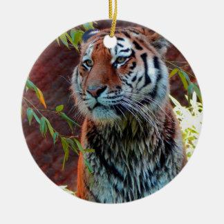 Tiger Round Ceramic Decoration
