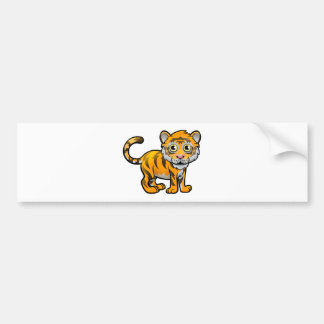 Tiger Safari Animals Cartoon Character Bumper Sticker