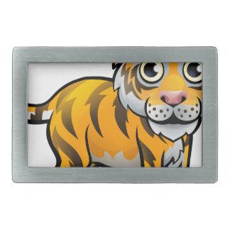 Tiger Safari Animals Cartoon Character Rectangular Belt Buckle
