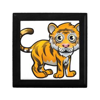 Tiger Safari Animals Cartoon Character Small Square Gift Box
