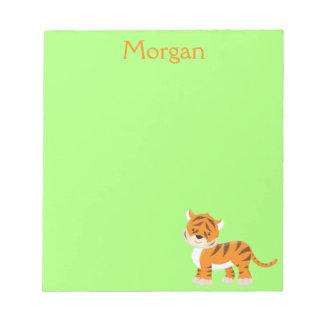 Tiger Safari Green Customize Notepad