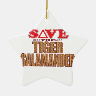 Tiger Salamander Save Ceramic Star Decoration