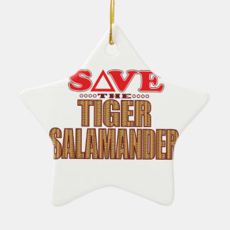 Tiger Salamander Save Christmas Ornament