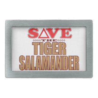 Tiger Salamander Save Rectangular Belt Buckle