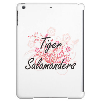 Tiger Salamanders with flowers background