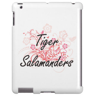Tiger Salamanders with flowers background iPad Case