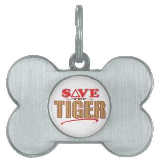 Tiger Save Pet ID Tag