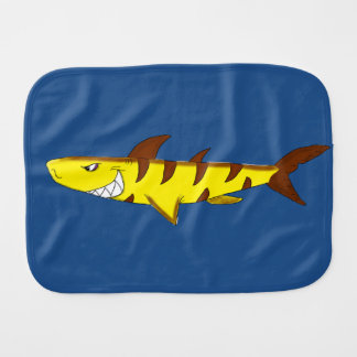 Tiger shark burp cloth