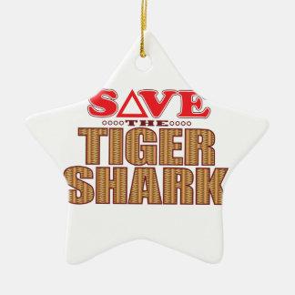 Tiger Shark Save Ceramic Star Decoration