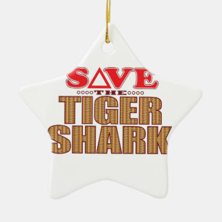 Tiger Shark Save Christmas Ornament