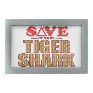 Tiger Shark Save Rectangular Belt Buckle