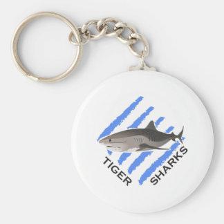 TIGER SHARKS BASIC ROUND BUTTON KEY RING