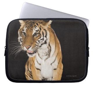 Tiger sitting on platform 2 laptop sleeve