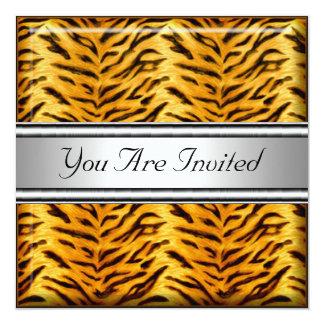 Tiger Skin Birthday Party Invitation