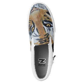 Tiger Slip On Shoes Printed Shoes