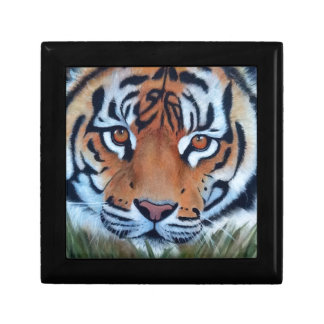 tiger small square gift box