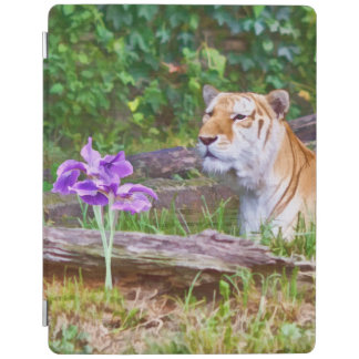 Tiger Smelling the Flowers iPad Cover