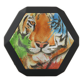 Tiger Splatter Black Bluetooth Speaker