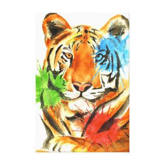 Tiger Splatter Canvas Print
