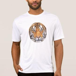 """Tiger Spot"" on White, Watercolor Art T Shirt"