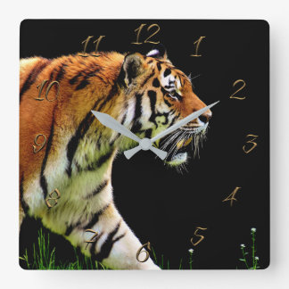 Tiger Square Wall Clock