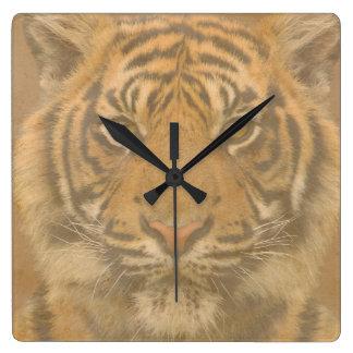 Tiger Square Wall Clock