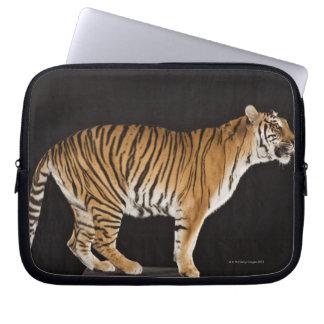 Tiger standing on platform laptop sleeve