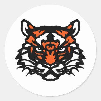 Tiger Round Sticker