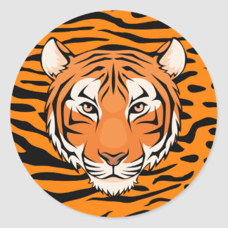 Tiger Sticker  (Circle) - go wild tigers!