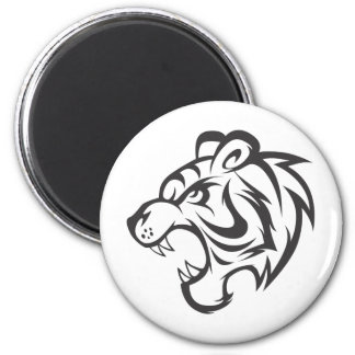 Tiger Sticker | Custom Angry Tiger Stickers 6 Cm Round Magnet