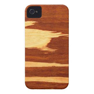 Tiger Stripe Bamboo Wood Grain Look iPhone 4 Case-Mate Case
