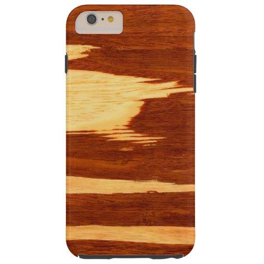 Tiger Stripe Bamboo Wood Grain Look Tough iPhone