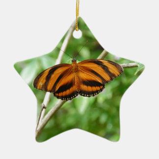 Tiger Stripe Butterfly Ceramic Star Decoration