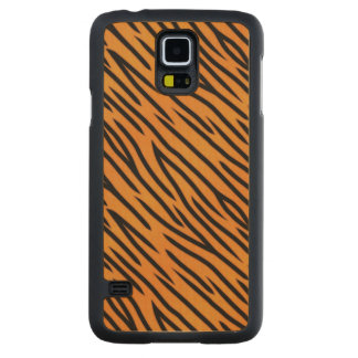 Tiger Stripe Pattern Carved Maple Galaxy S5 Case