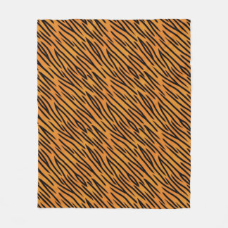 Tiger Stripe Pattern Fleece Blanket