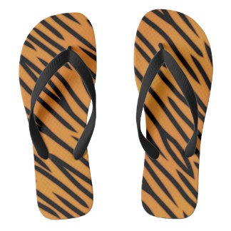Tiger Stripe Pattern Flip Flops