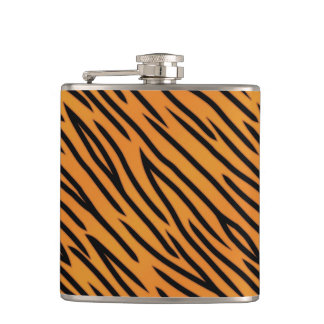 Tiger Stripe Pattern Hip Flask