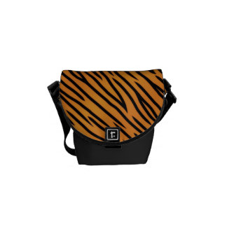 Tiger Stripe Pattern Messenger Bag