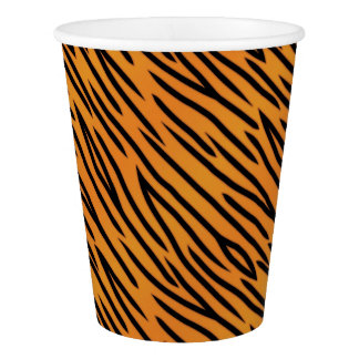 Tiger Stripe Pattern Paper Cup