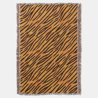Tiger Stripe Pattern Throw Blanket