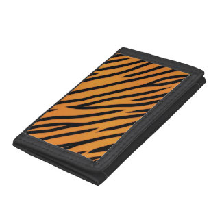 Tiger Stripe Pattern Trifold Wallet