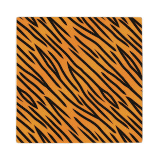 Tiger Stripe Pattern Wood Coaster