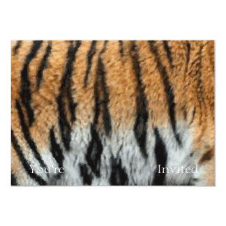 Tiger Stripe Print Pattern Background 13 Cm X 18 Cm Invitation Card