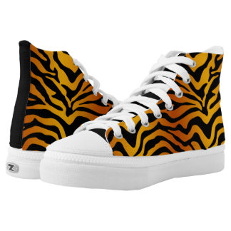 Tiger stripe printed shoes